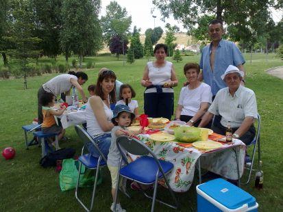Día de campo en Puente Jardín
