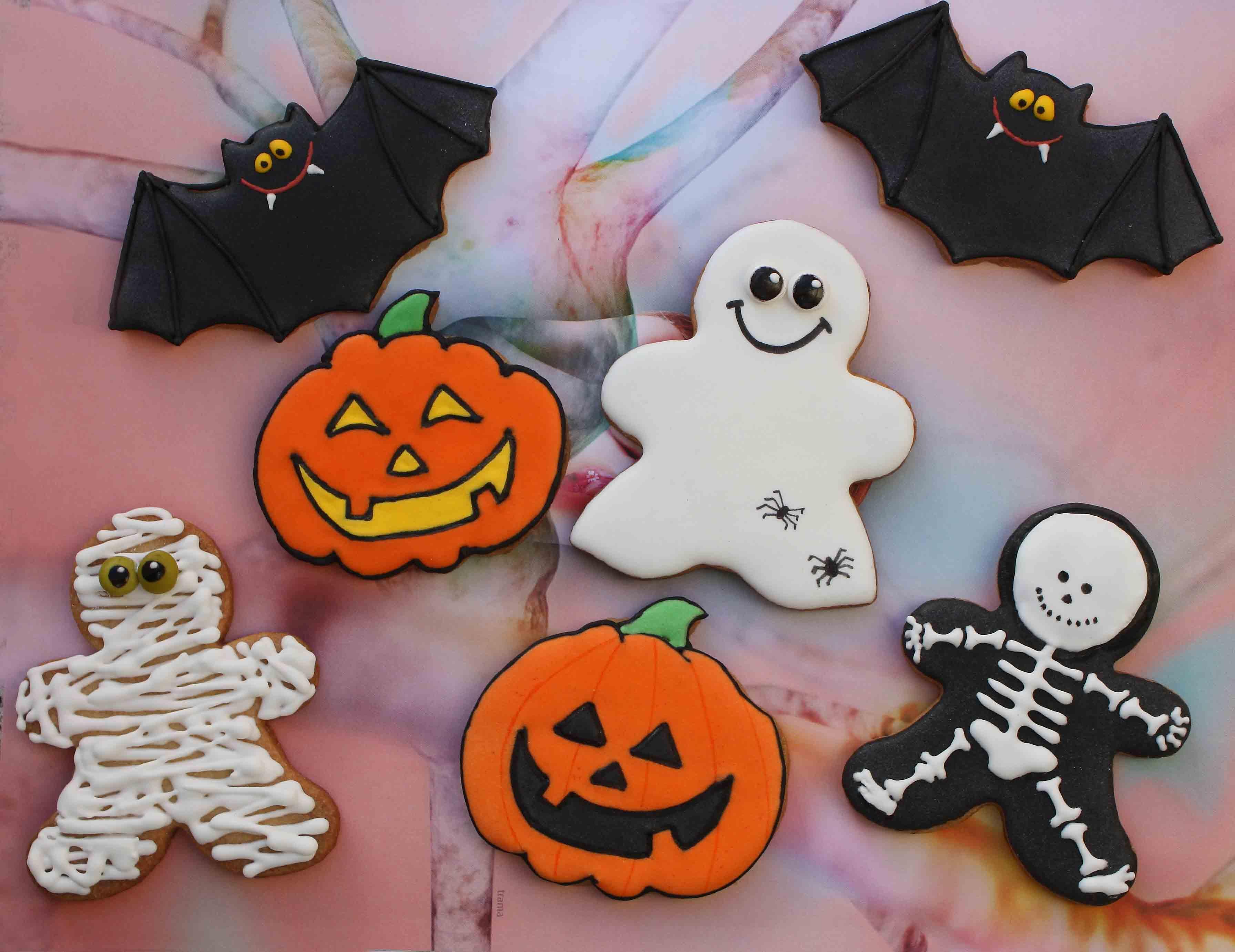 Esqueletos vampiros y todos son galletas fotos de Halloween