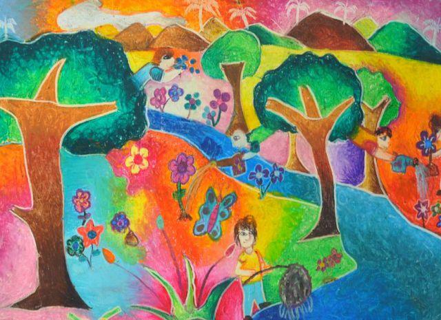 Concurso de dibujos infantil y juvenil fotos de concurso - Pintura infantil pared ...